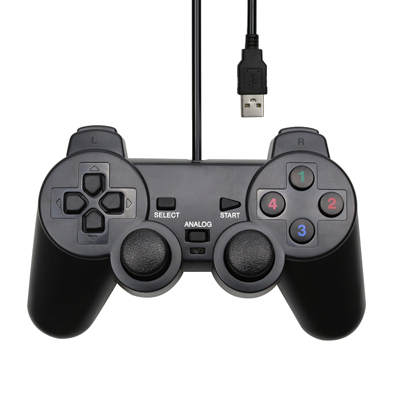 Wired USB Controller Gamepad For WinXP/Win7/Win8/Win10 For PC Computer Laptop Black Game Joystick