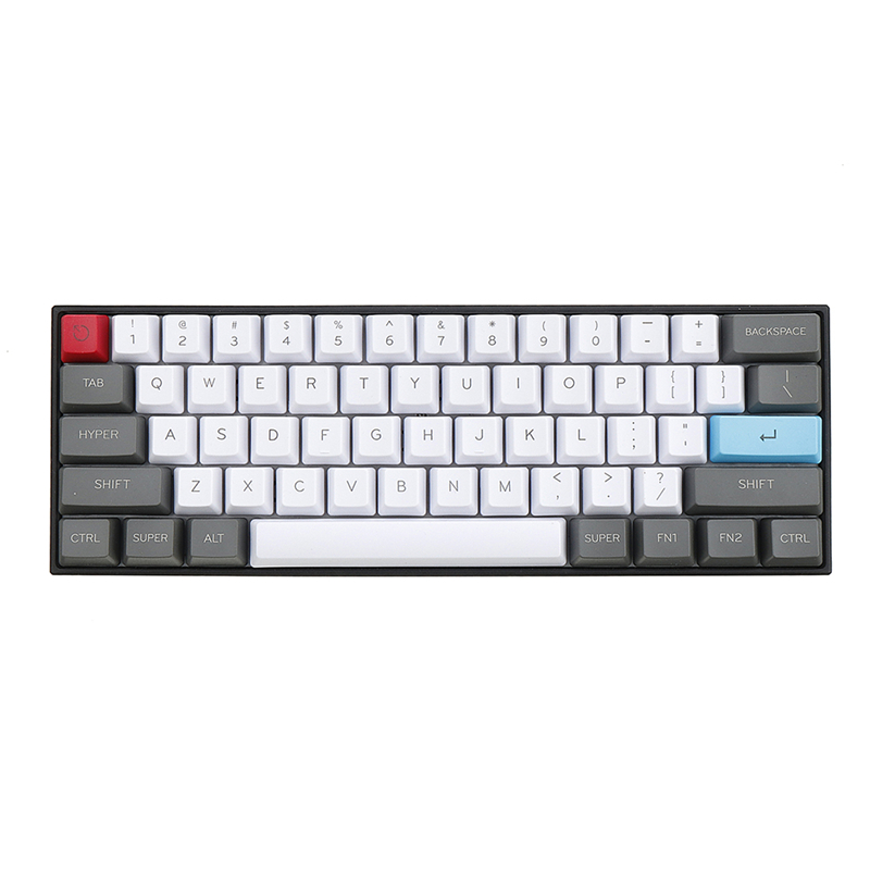 61 Key ANSI-Layout OEM Profile PBT Thick <font><b>Keycaps</b></font> for <font><b>60</b></font>% Mechanical <font><b>Keyboard</b></font> For Cherry MX Switches Gaming <font><b>Keyboard</b></font> Keycap Only image