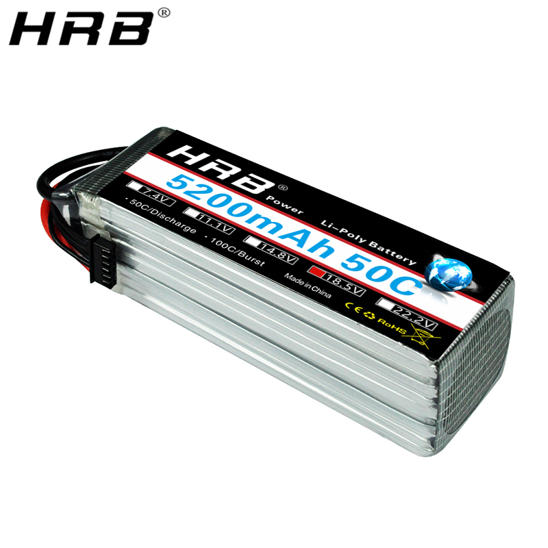 HRB 5S 18.5V Lipo Battery 5200mah XT60 T Deans EC5 XT90 XT90-S TRX For Quadcopter Helicopter FPV Airplanes Car Boat RC Parts 50C