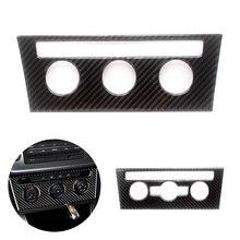 For VW Golf 7 MK7 VII 2013 2014 2015 2016 2017 Carbon Fiber Car Interior Center Console Air conditioning Knob Frame Cover