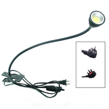 LED Desk Lamp with Clip  Flexible LED Reading Lamp 5W 220V Power Supply LED Book Lamps Children Bedside Home lights Eu/US plug