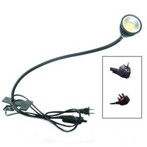 Image 1 - LED Desk Lamp with Clip  Flexible LED Reading Lamp 5W 220V Power Supply LED Book Lamps Children Bedside Home lights Eu/US plug