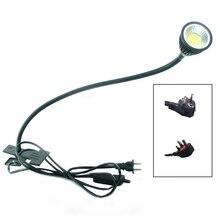 Lampa LED na biurko lampa z klipsem elastyczna lampka do czytania LED 5W 220V zasilacz LED Book lampy dzieci lampki nocne światła do domu