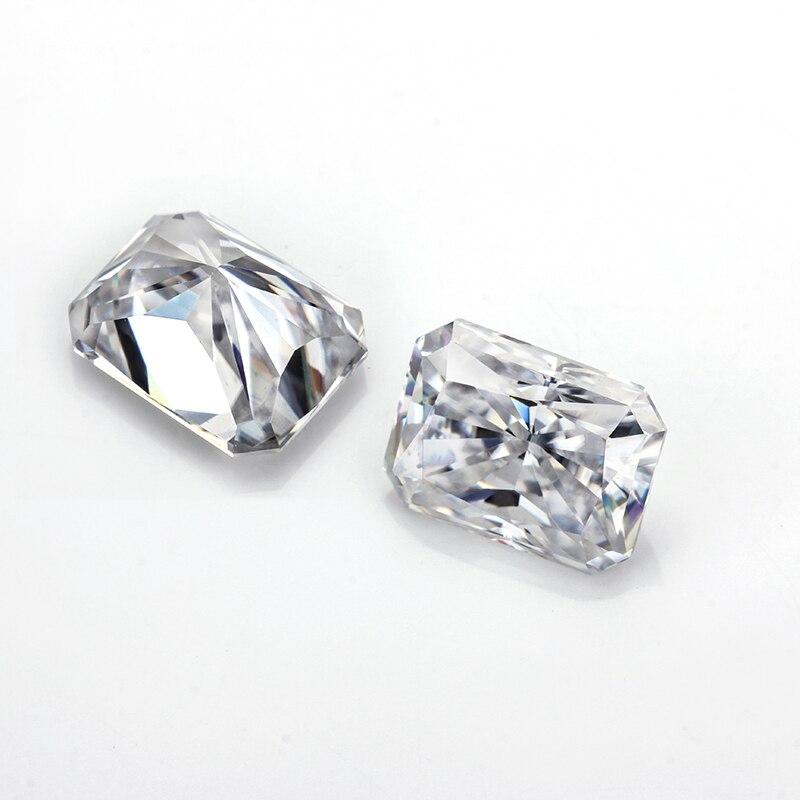 Starszuan 6*8mm Test Positive VVS Radiant Ice Cut EF Moissanite Gemstone Good Quality Moissanite Bead for Jewelry Making