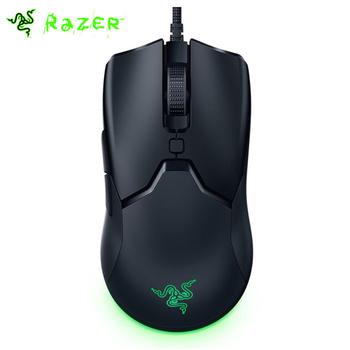 Mysz do gier Razer Viper Mini 61g ultralekka konstrukcja CHROMA światło RGB 8500 DPI mysz Optail Sensor tanie i dobre opinie CN (pochodzenie) PRZEWODOWY Dla palców Obie ręce All New 6 PCs Optical Black Support