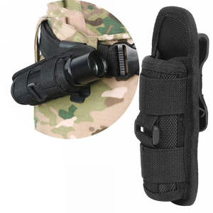 Holster Clip-Belt Molle-Lighting-Accessories Rotatable LED Flashlight with Torch-Case
