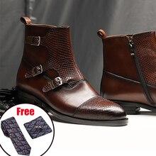 Мужские зимние ботинки; ботинки «Челси» из натуральной коровьей кожи; повседневные Полуботинки на плоской подошве; удобная качественная мягкая обувь ручной работы; цвет черный, коричневый