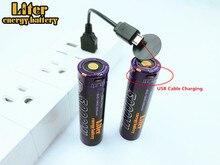 10PCS batteria Del Computer Portatile USB 18650 3500mAh 3.7V Li Ion batteria USB 5000ML Li Ion Rechargebale batteria + USB filo
