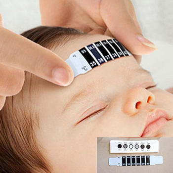 10pcs/lot Forehead Head Strip Fever Thermometer Baby Child Adult Body Check Test Temperature Monitoring Safe Non-Toxic image
