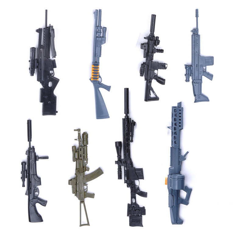 1:6 Assemble Gun Model 1 / 6 Weapon Model AK 74 Sniper Rifle HK416  Submachine Gun Military Simulation Toys Color Random