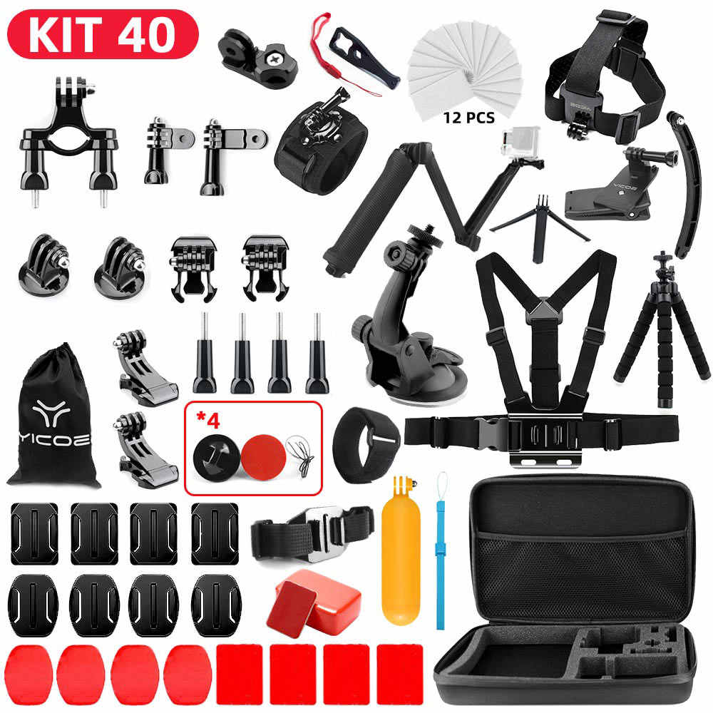 MountDog for Gopro Accessories Kit for go pro hero 7 6 5 4 3 set mount for SJCAM SJ4000 for xiaomi yi camera for xiomi tripod VK
