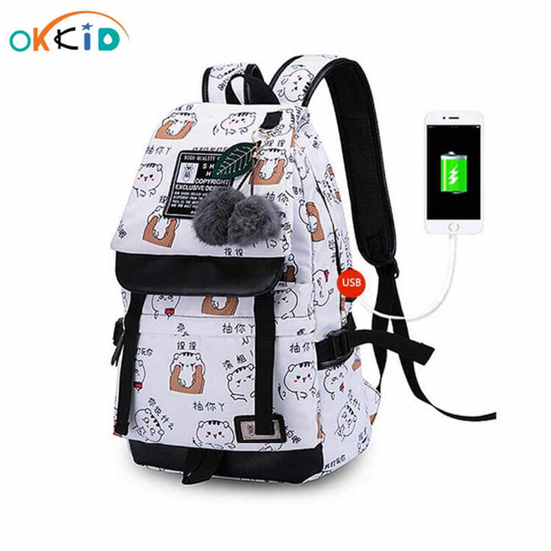 cute school bags for teenage girls gift notebook computer backpack kids school backpack child book bag female travel backpack