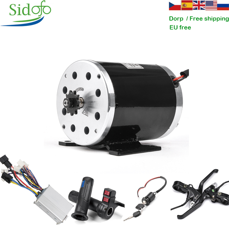 <font><b>500W</b></font> High Speed <font><b>Motor</b></font> in <font><b>DC</b></font> <font><b>Motor</b></font> with Sprocket <font><b>24V</b></font>/36V/48V Brushed <font><b>Motor</b></font>/Engine/Controller Kit Scooter <font><b>Motor</b></font> Electric Bike image