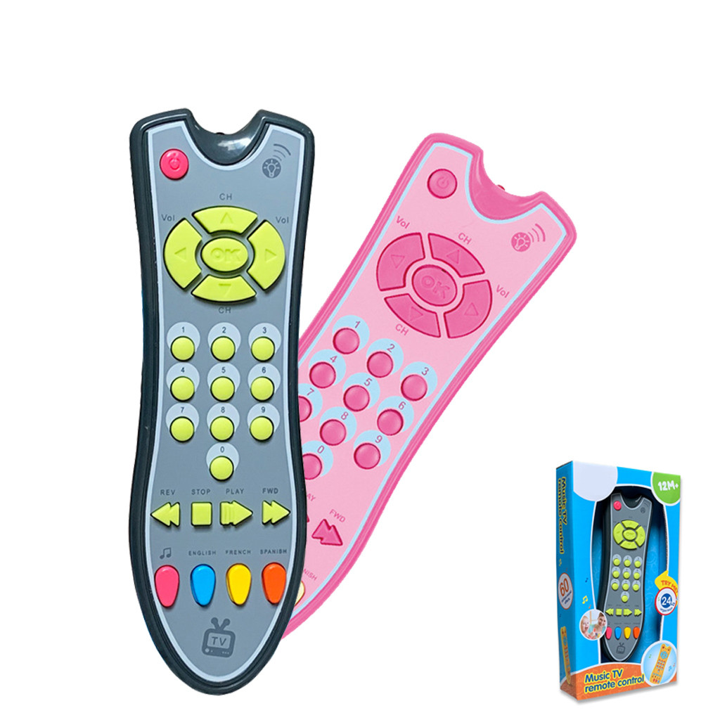 Kids Musical TV Remote Control Toy With Light And Sound Early Education Learning