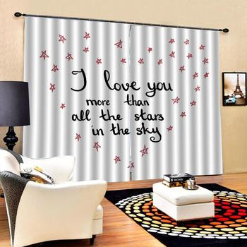 romantic love curtains Beautiful Photo Fashion Customized 3D Curtains Blackout curtain