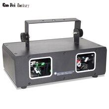 Disco Laser Lights 2 Lens Projector RG Laser Beam Light for Halloween DJ Party Stage Light