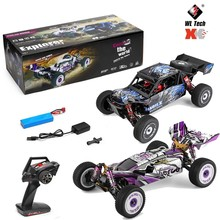 Wltoys 124018 124019 RC Car 1/12 Scale 60KM/H High Speed Electric RC Formula Car 2.4G 4 Wheel Drive Metal Chassis Shock Absober
