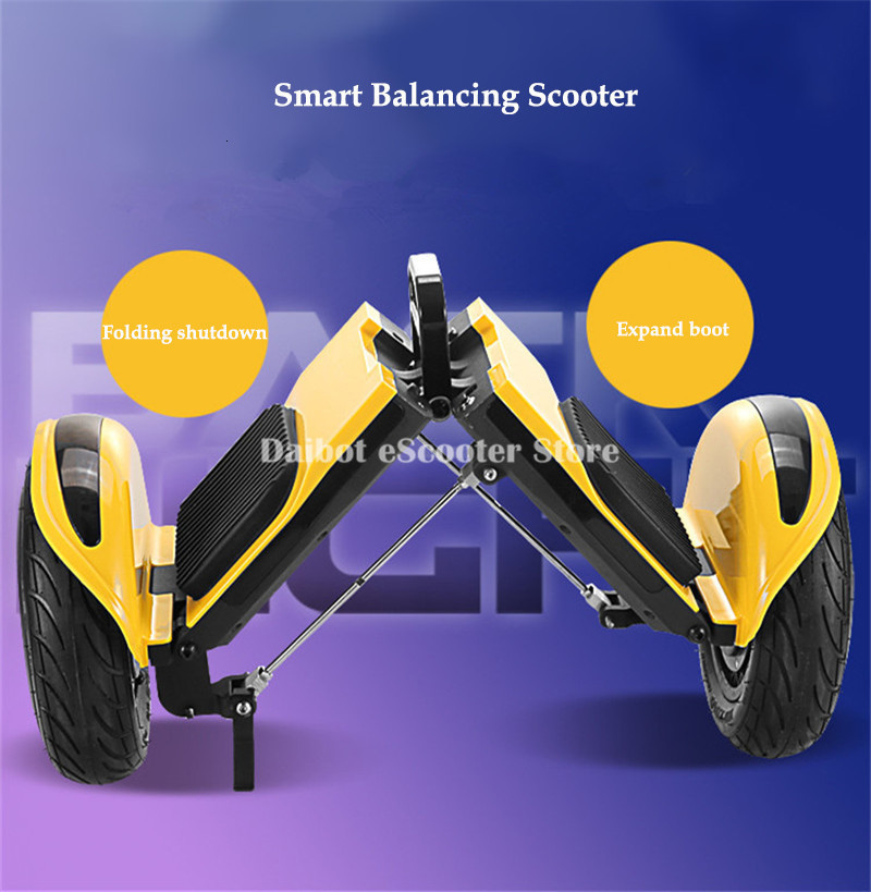 Daibot Off Road Electric Scooter Foldable 2 Wheels Self Balancing Scooters Double Drive 250W 36V Hoverboard Skateboard Bluetooth (22)