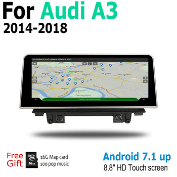 Car Android For Audi A3 8V 2014~2018 MMI Touch Screen Radio Audio Multimedia Player Stereo Display navigation GPS Navi Map image