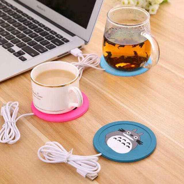 USB Warmer Gadget Cartoon Silicone thin Cup-Pad Coffee Tea Drink usb Heater Tray Mug Pad nice Gift 4