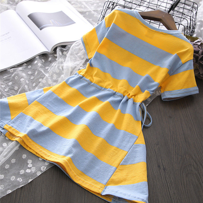 VIDMID New Summer Baby striped Princess Floral cotton clothes Dress 3-14year Girls Clothing Children Clothes Dresses P528 4