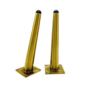 Image 3 - 4Pcs Stainless Furniture table legs TV Cabinet Foot Sofa Leg Hardware Cabinet feet 12/15/20/25/30CM Tapered Leg Load 900KG