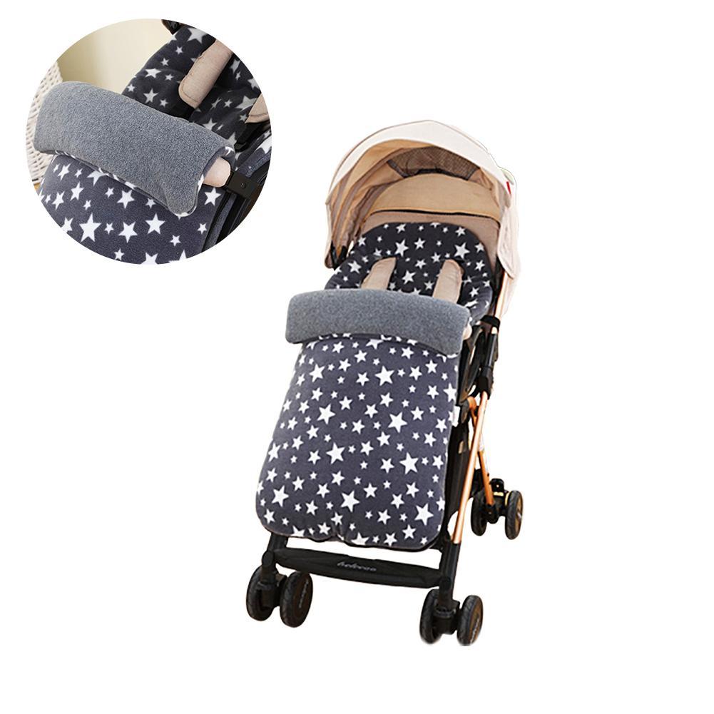 Stroller Sleeping Bag Baby Stroller Sleeping Bag Winter Warm Foot Cover Anti-Kicked Fleece Cart Accessories Baby Universal