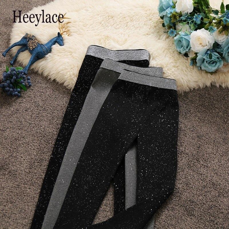 2019 Autumn Port Odor High Waist Legging Bright Silk Pants Self-cultivation Rendering Bound Feet Pants Woman