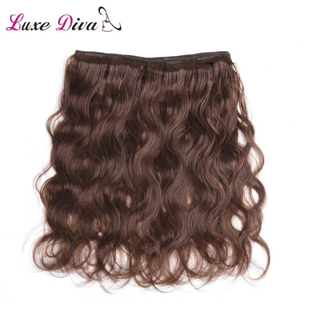 #4 jasnobrązowe wstępnie kolorowe włosy typu Body Wave splot wiązek 1 2 3 4 wiązki 30 #350 ##2 hurtownia brazylijskich doczepy z ludzkich włosów