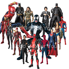 Mafex Spiderman Venom 088 Superman Wonder Woman Flash Aquama