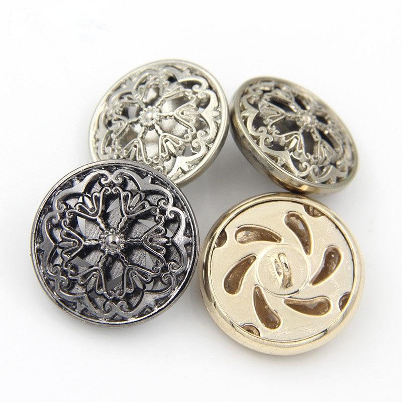 10pcs Carved Metal Round Buttons Sewing Scrapbook Jacket Blazer Crafts DIY 25mm