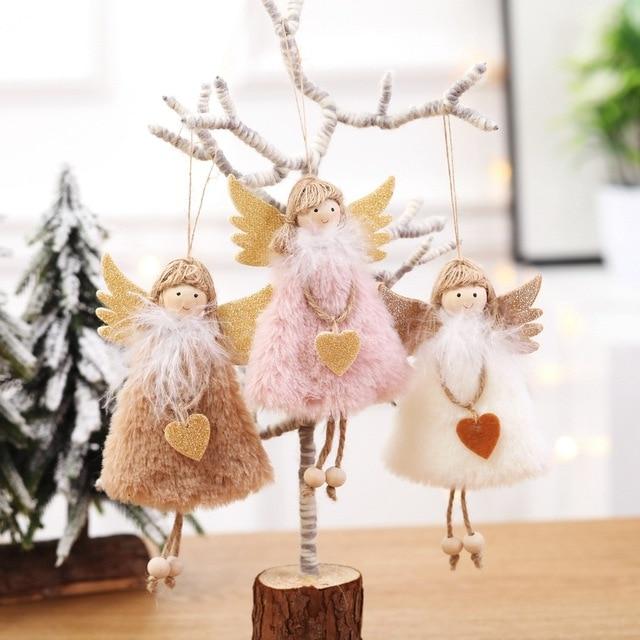 2020 New Year Latest Christmas Angel Dolls Cute Xmas Tree Ornament Noel Deco Christmas Decoration for Home Navidad 2019 Kid Gift 2