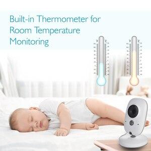 Image 4 - Monitor inalámbrico para bebés, pantalla LCD de 3,2 pulgadas, visión nocturna IR, 2 vías de conversación, 8 canciones de cuna, monitor de temperatura, vídeo, radio, cámara para bebés