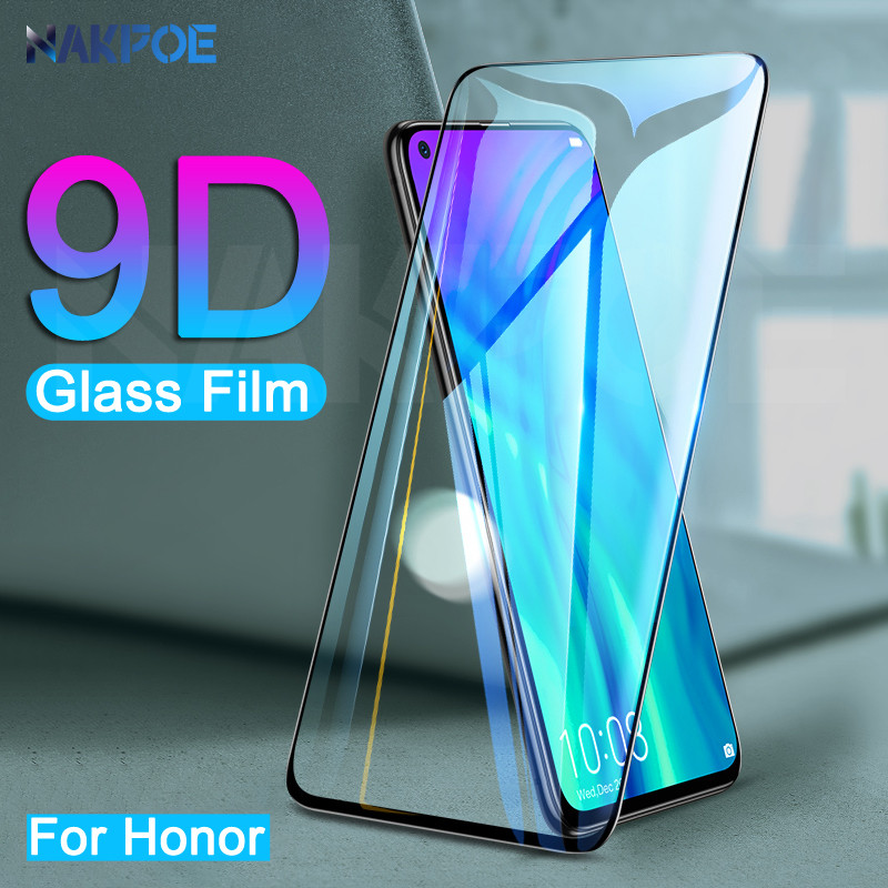 9D Protective Glass On The For Huawei Honor 9 10 Lite V20 V10 V9 Play 9X Honor 20 8 Lite Tempered Screen Protector Glass Film