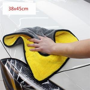 Image 2 - Microfiber Towel Car Care Polishing Wash Towel Plush Washing Drying Towels Thick Plush Coral Velvet Car Detailing Cleaning Cloth