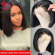 Queen Hair Products Peruvian Wig Straight Short Bob Lace Front Wigs 13x4 Lace Frontal Human Hair Wigs Pre-plucked With Baby Hair