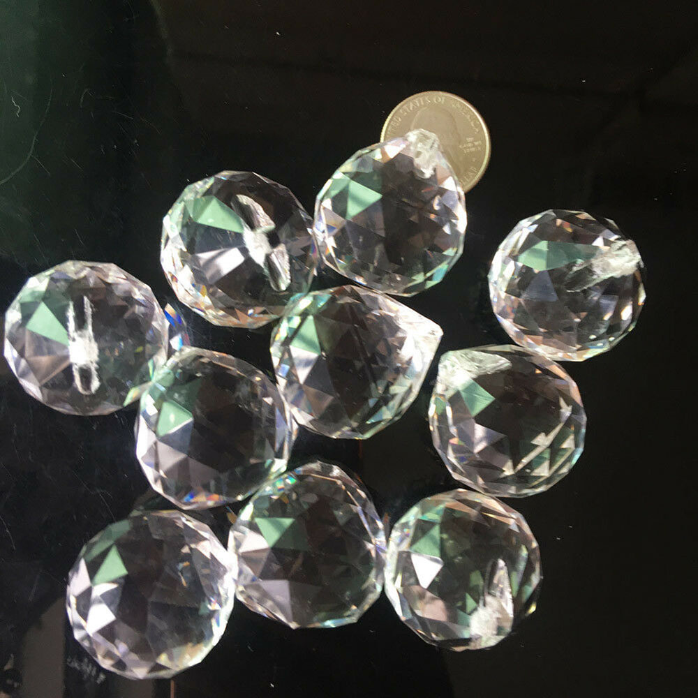 5X Clear Hanging  Suncatcher Crystal Ball Sphere Prism Faceted Best Decoration