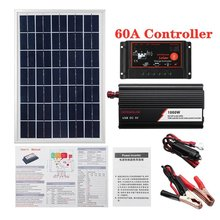 1000W Solar Panel System Solar Panel 60A Charge Controller Solar Inverter Kit Complete Power Generation Solar Panel Suitcase