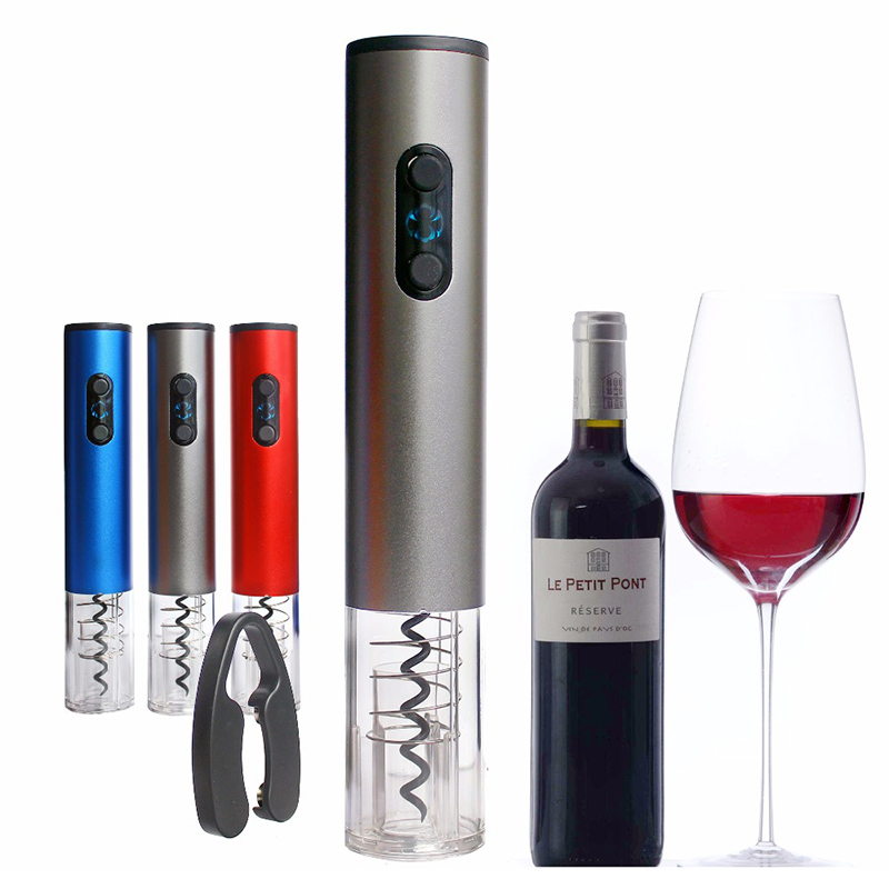 Professional Electric Wine Opener Dry Battery Automatic Bottle Opener Corkscrew Red Wine Opener Foil Cutter Set for Kitchen Tool(China)