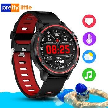 Reloj inteligente L8 IP68 para Hombre, Reloj inteligente resistente al agua con ECG presión arterial mediante PPG, relojes deportivos para fitness