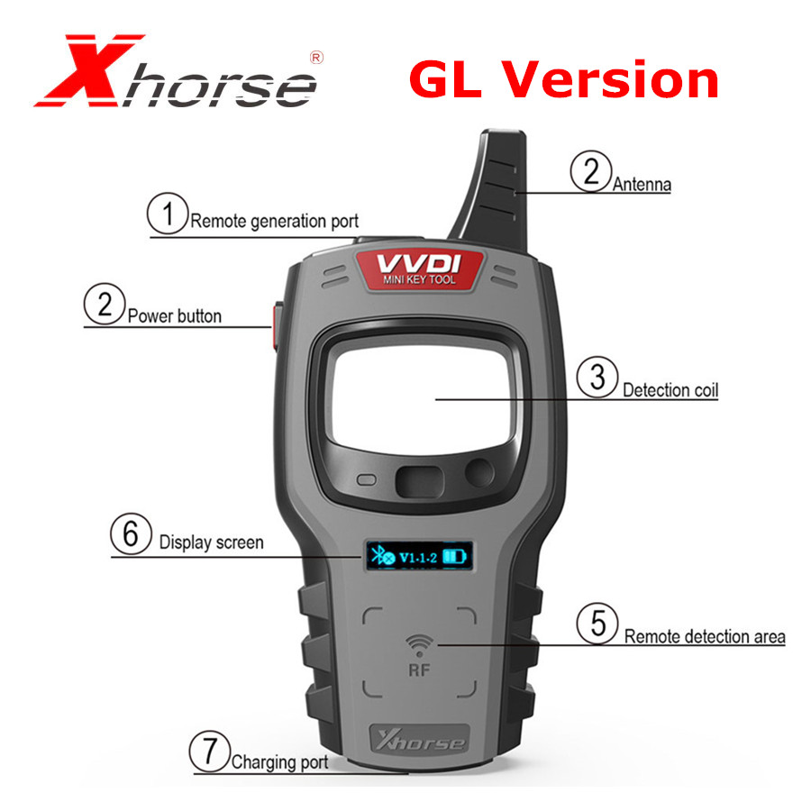 Xhorse VVDI Mini Key Tool Remote Key Programmer Support IOS and Android VVDI Key Tool Global Version
