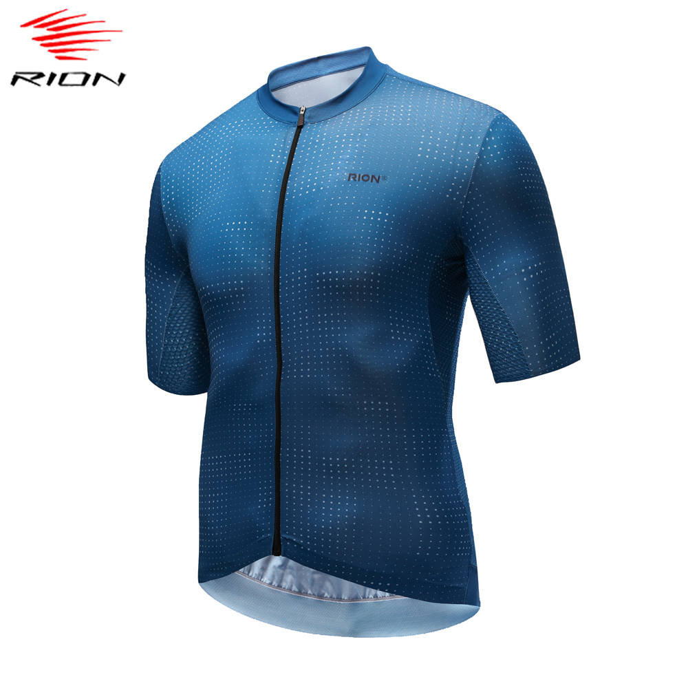 RION Men Cycling Jersey 2020 Dot Pattern Summer Short Sleeve Bicycle Jersey Breathable Quick Dry MTB Road Bike Jersey Ciclismo