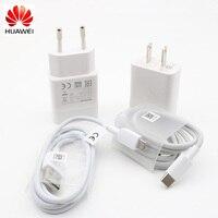 Original HUAWEIl 5V 2A EU UNS ladegerät & Micro USB/Tpye C Kabel für P8 9 nova 3i 2i honor 8x 7c p6 p7 p8 p9 p10 lite mate 7 8 S Y6