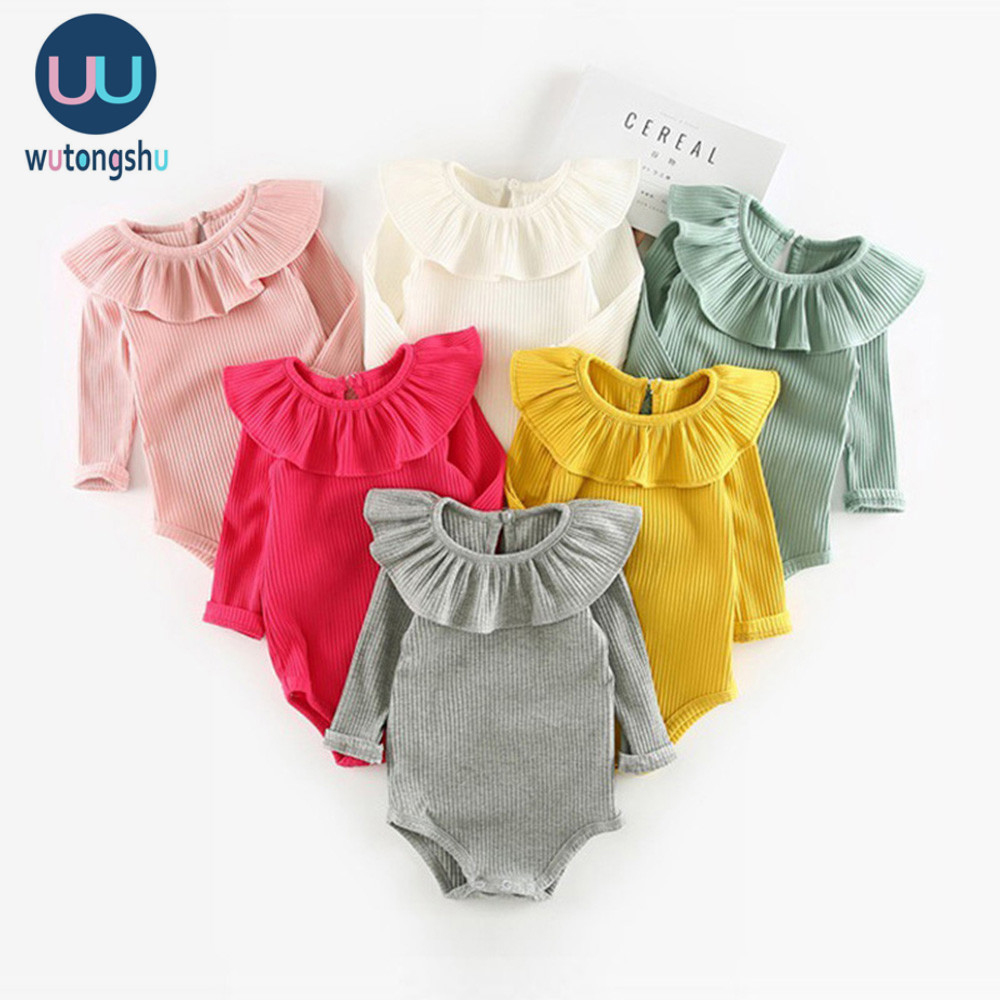 Baby Girl Boy Rompers 0-2Y Spring Newborn Baby Clothes For Girls Long Sleeve Baby Jumpsuit Baby Girls Outfits Clothes Autumn