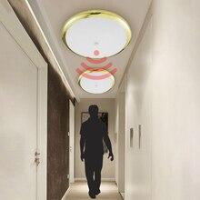 Zerouno מסדרון מסדרון מעבר מדרגות Motion חיישן LED תקרת אור מודרני אורות 18W 30W 32W מטבח חדר אמבטיה תקרת מנורה