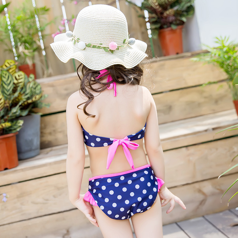 Children Girls Swimwear GIRL'S Split Type Big Boy Swimwear Princess Holiday Baby Girls Bikini Three-piece Set