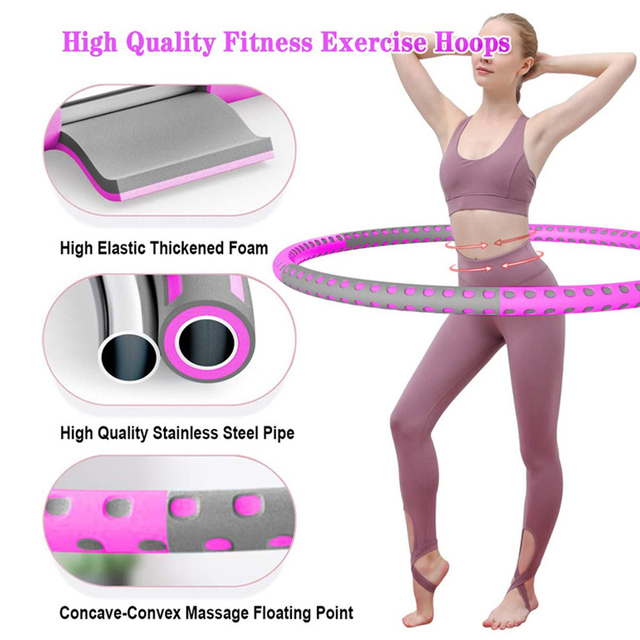 6 Parts Detachable Hola Hoops Sport Hoops Weight Lose Adjustable Waist Trainer Hoola Hoops Fitness Equipment Home Exercise 3