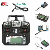 FLYSKY FS-i6X i6X 10CH 2.4GHz AFHDS 2A nadajnik RC z X6B iA6B A8S iA10B iA6 odbiornik do zdalnie sterowanej dronów wyścigowych FPV retailbox