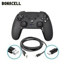 Controlador sem fio do bluetooth dos gamepads para o controle do joystick de usb da almofada do jogo de vídeo do console do interruptor ns do n-switch com 6-axis