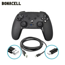Controlador sem fio do bluetooth dos gamepads para o controle do joystick do usb da almofada de jogo de vídeo do console do controlador do interruptor pro com 6-axis
